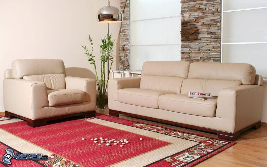 vardagsrum, soffa, matta