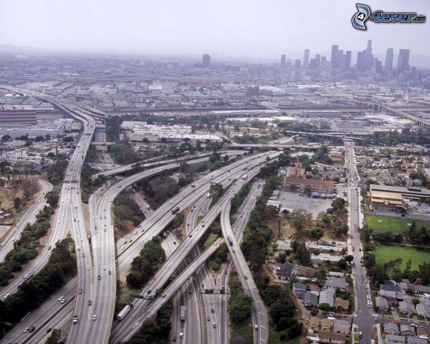 motorvägskorsning, Los Angeles