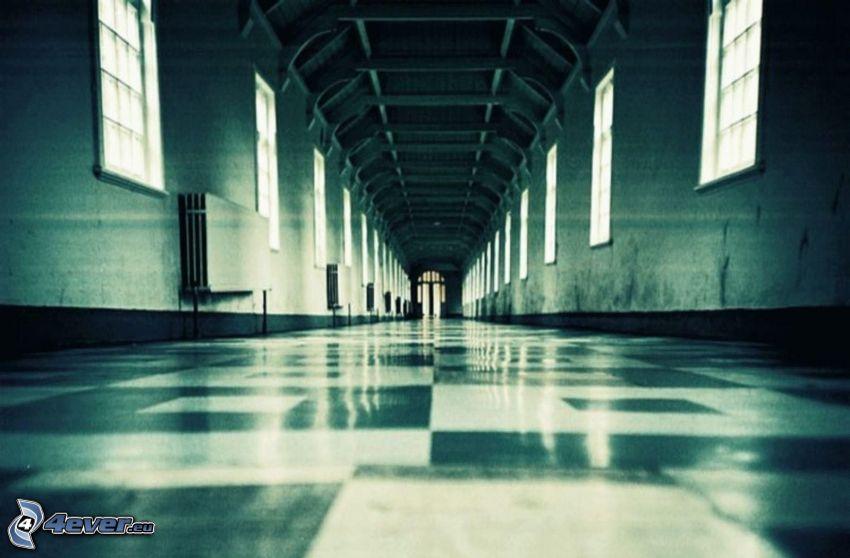 sjukhus, korridor