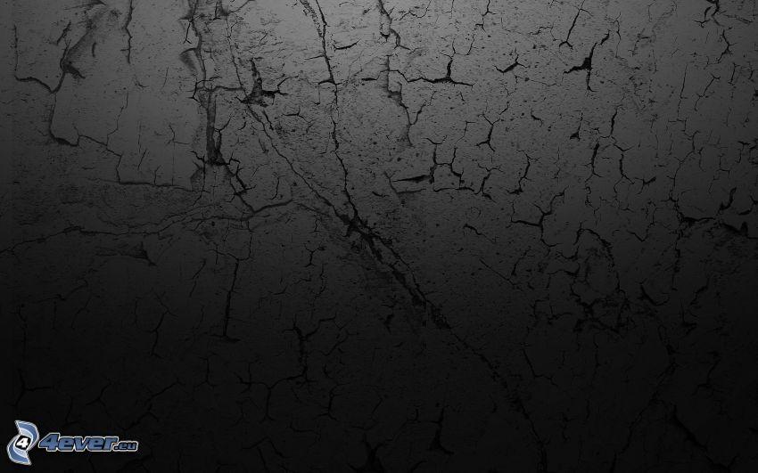 sprucken vägg, gammal mur, sprickor