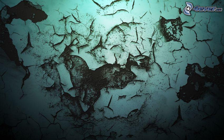 sprucken vägg, sprickor