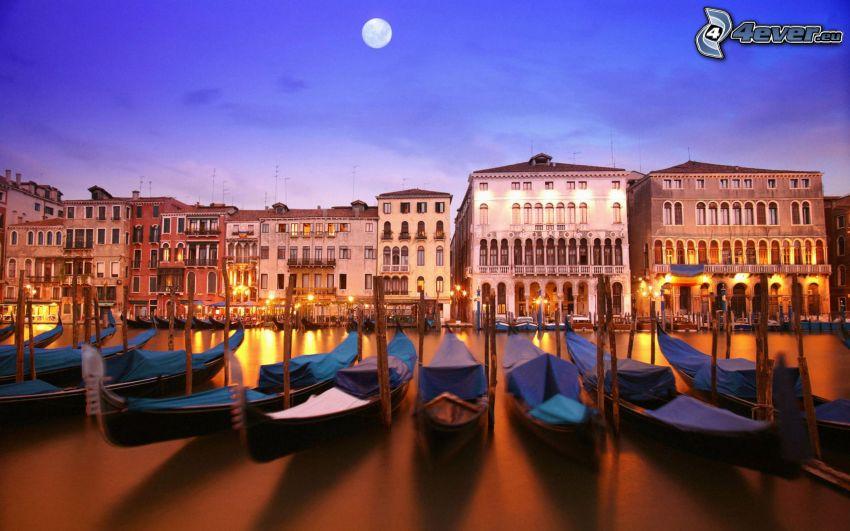 båtar vid strand, Italien