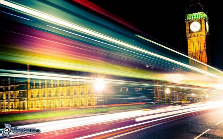 Big Ben, ljus, London