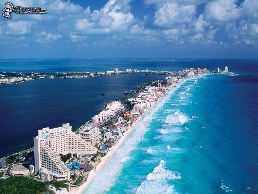 Cancún, badort, öppet hav