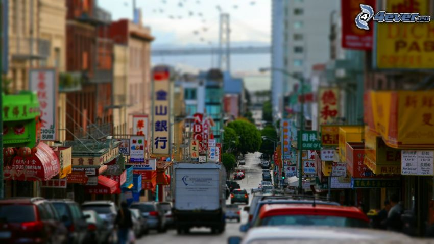 Chinatown, San Francisco, diorama