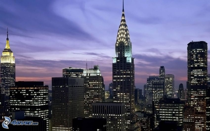 Chrysler Building, Empire State Building, New York, skyskrapor