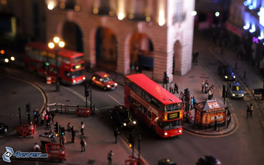 doubledecker, London, diorama