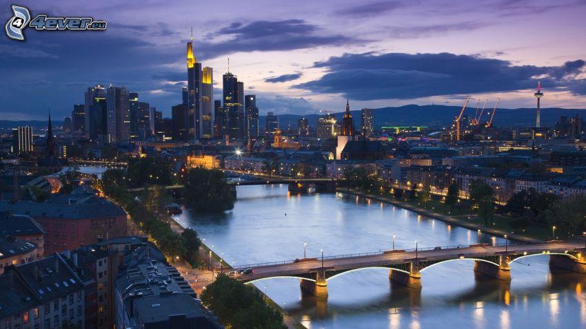 Frankfurt, flod, broar