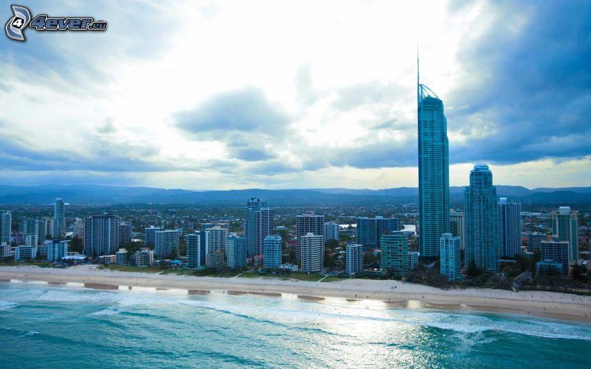 Gold Coast, skyskrapor, hav