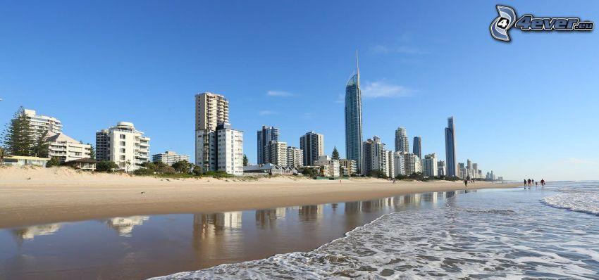 Gold Coast, skyskrapor, sandstrand