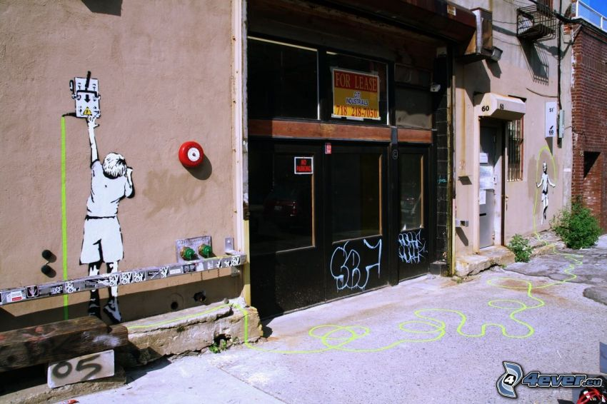 graffiti, gränd