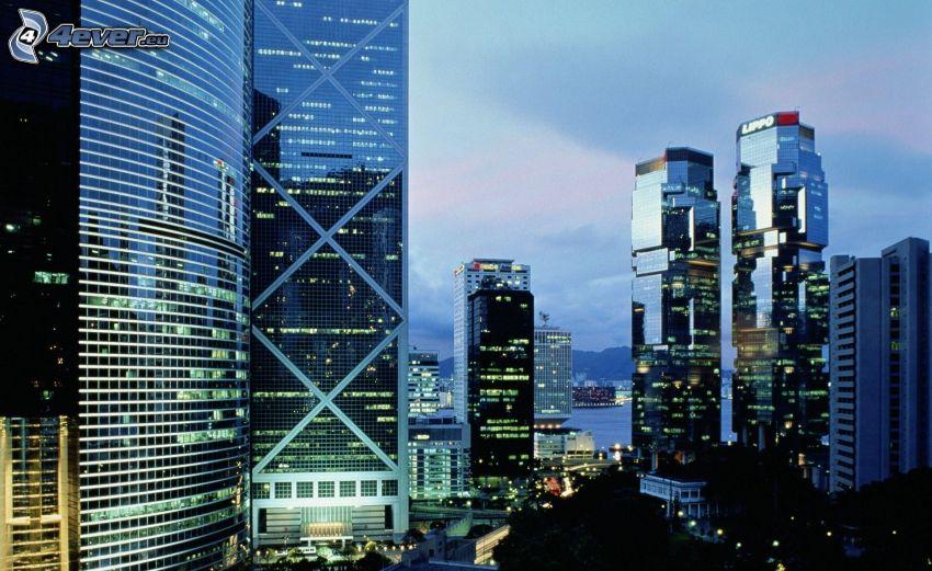 Hong Kong, skyskrapor, Bank of China Tower
