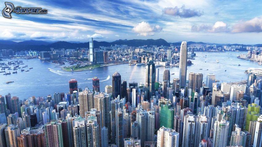 Hong Kong, skyskrapor