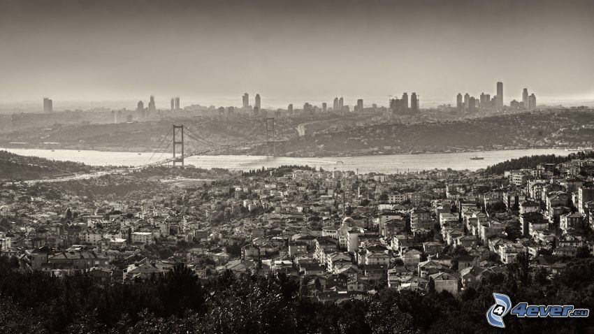 Istanbul, svartvitt foto