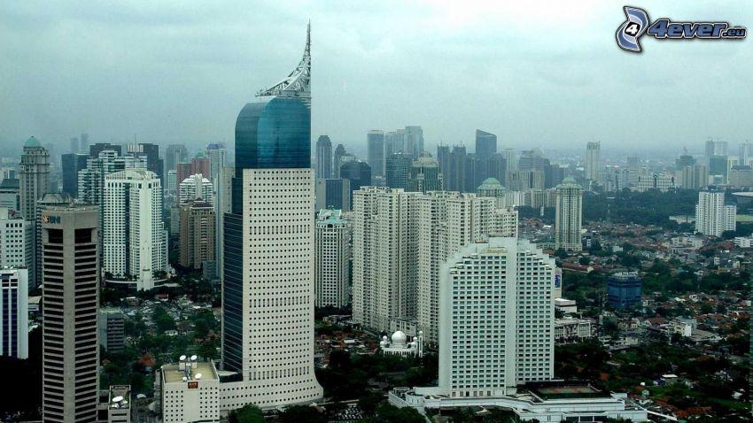 Jakarta, skyskrapor