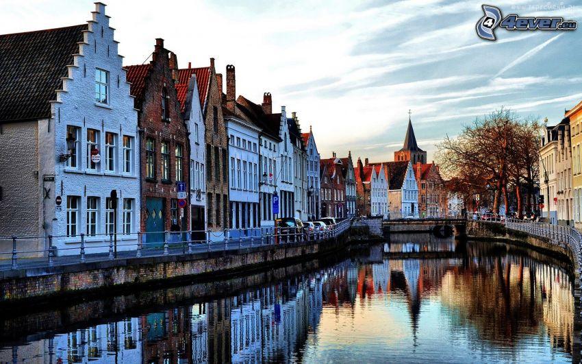 kanal, hus, Amsterdam