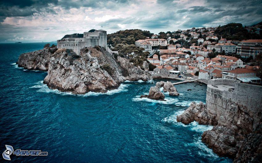 Kroatien, badort
