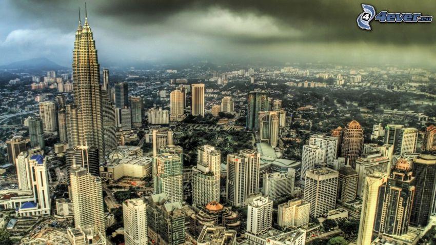 Kuala Lumpur, Petronas Towers, HDR