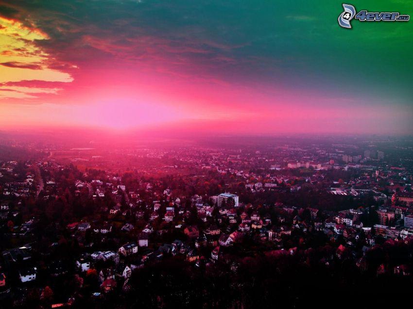 kvällsstad