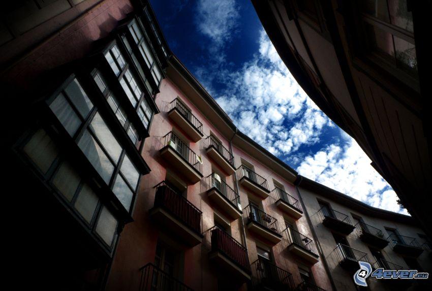 lägenheter, gata