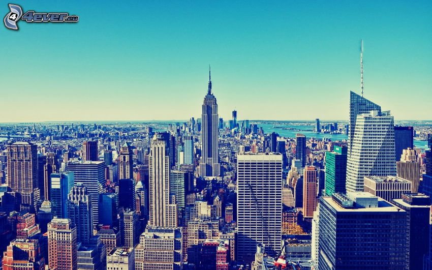 Manhattan, Empire State Building, New York, skyskrapor