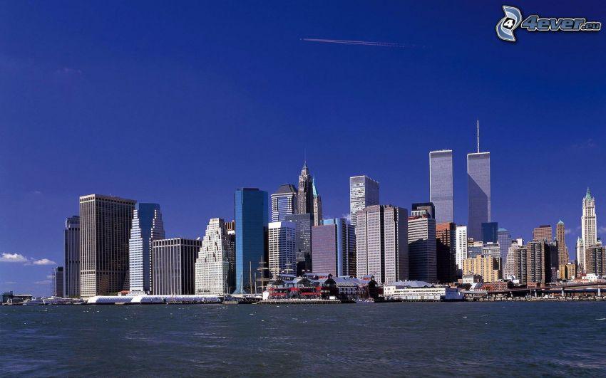 Manhattan, New York, skyskrapor, World Trade Center