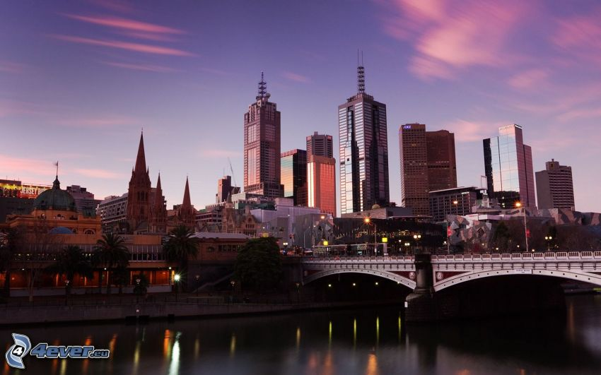 Melbourne, skyskrapor