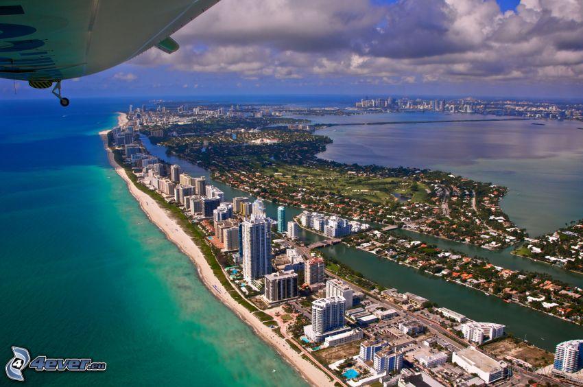Miami, kuststad, flygfoto