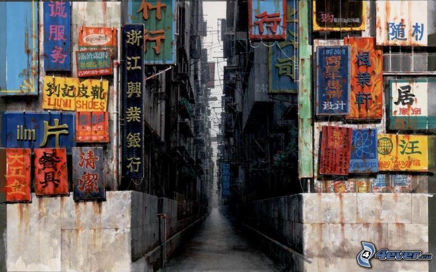mörk gränd, Kina
