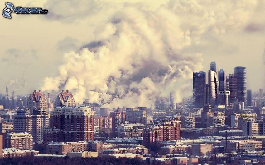 Moskva, rök, fabrik