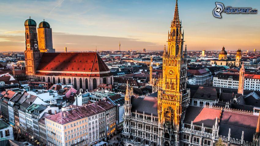 Munich, Tyskland, stadsutsikt