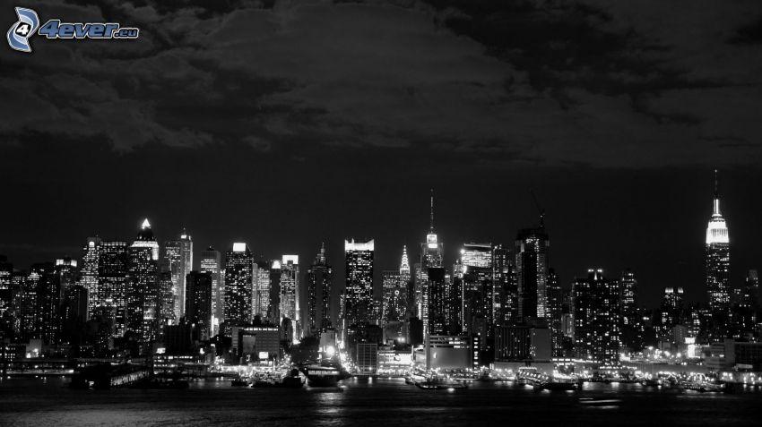 nattstad, skyskrapor
