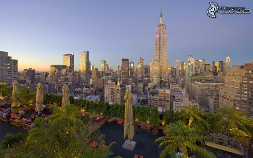 New York, Empire State Building, skyskrapor