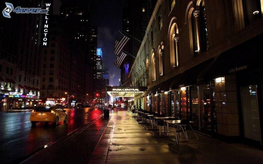 New York, gata, natt