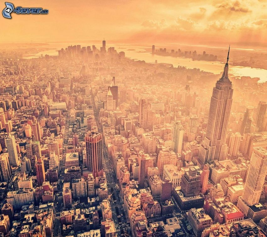 New York, stadsutsikt