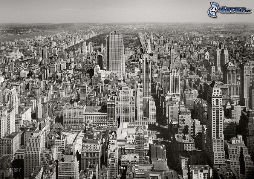New York, svart och vitt