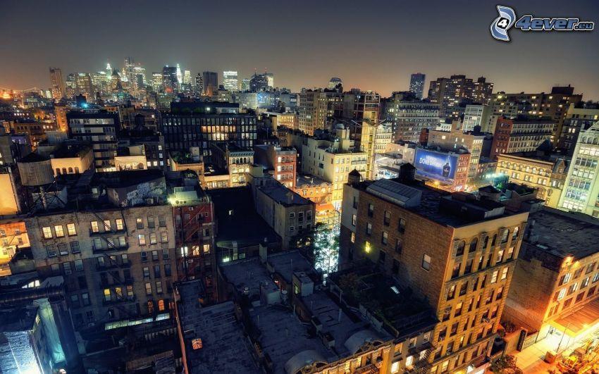 New York på natten