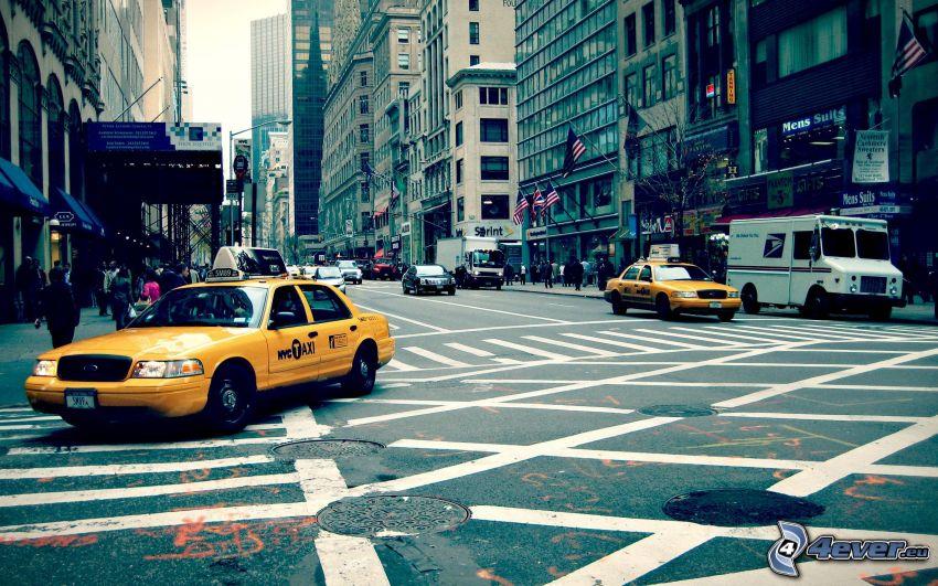 NYC Taxi, gata, New York