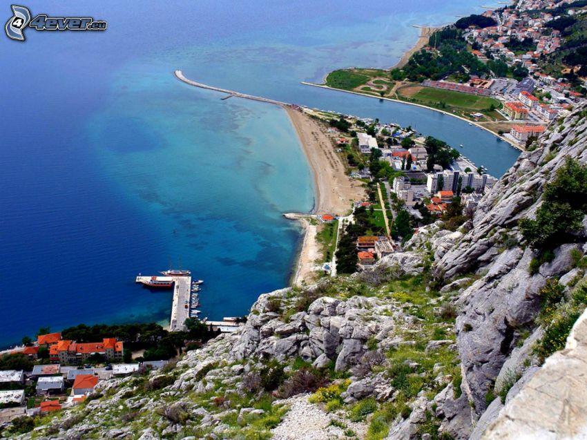 Omiš, Kroatien, badort