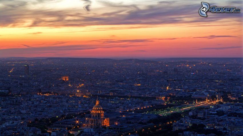 Paris, nattstad, L'Hôtel national des Invalides