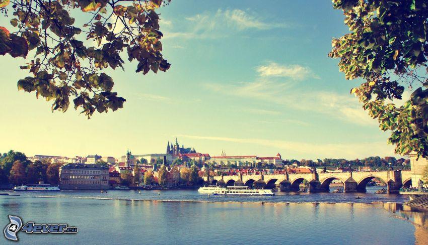 Prag, Karlsbron, Vltava