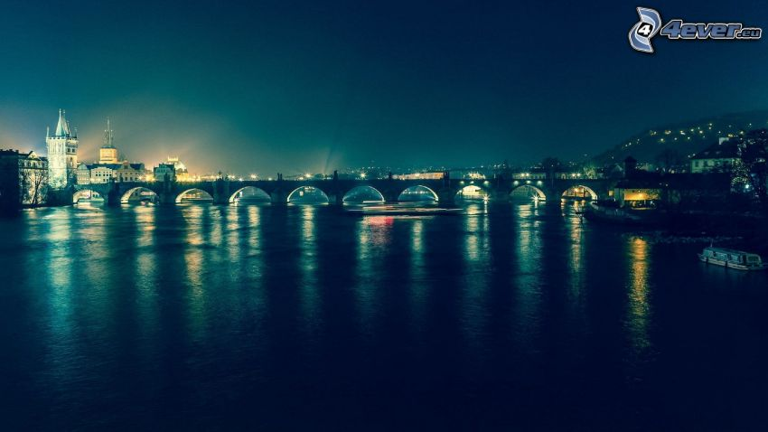 Prag, nattstad