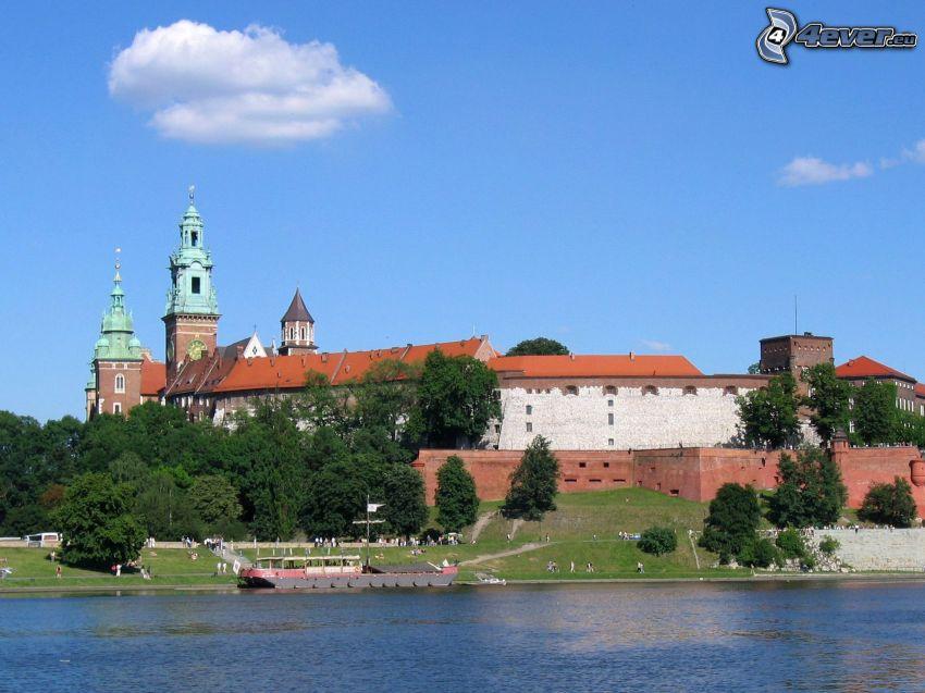 Slottet Wawel, Krakow, flod