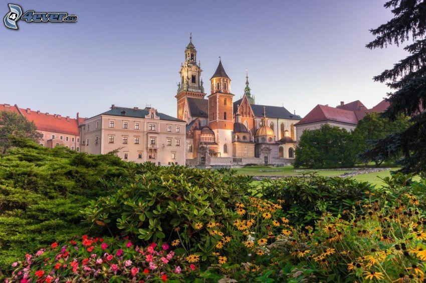 Slottet Wawel, Krakow, grönska