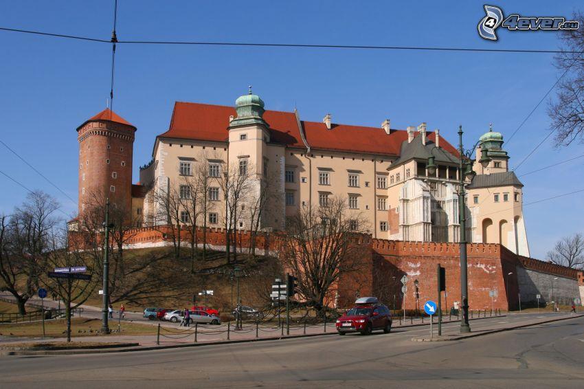 Slottet Wawel, Krakow, väg