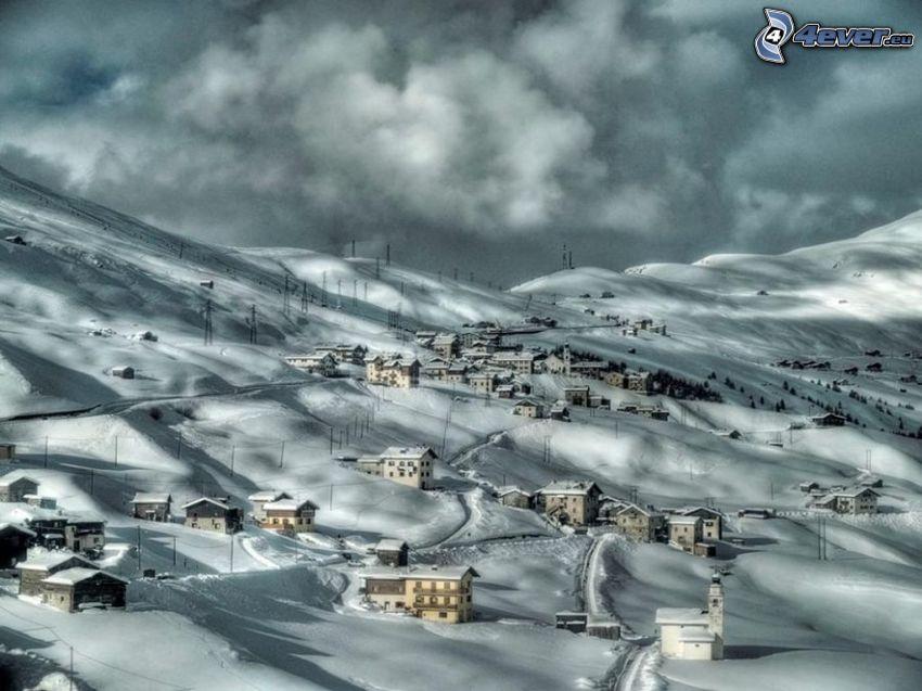 snöig by, Italien