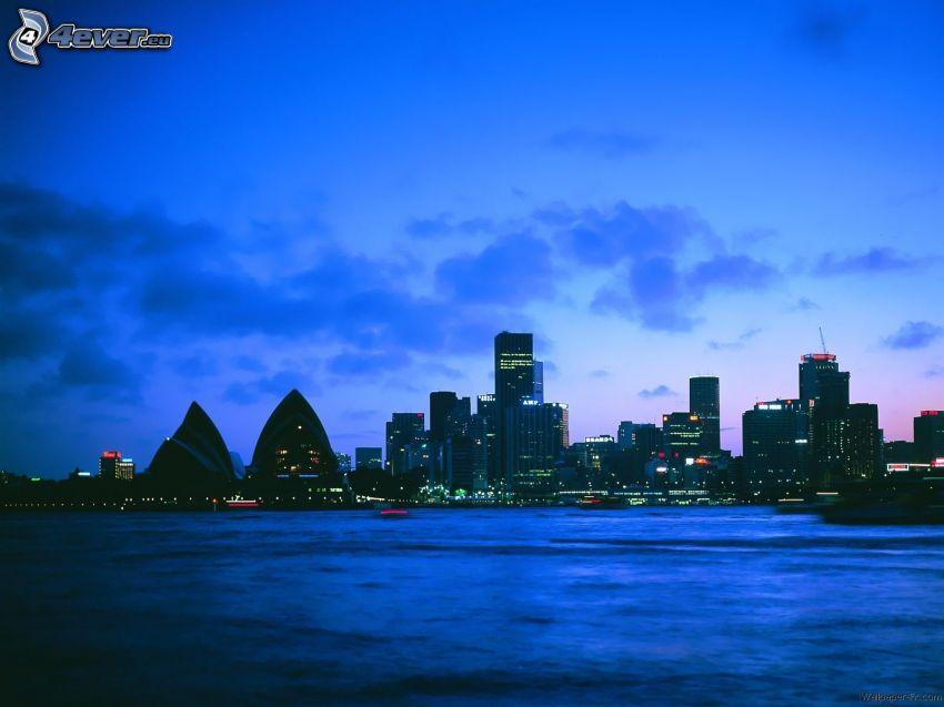 Sydney, kvällsstad