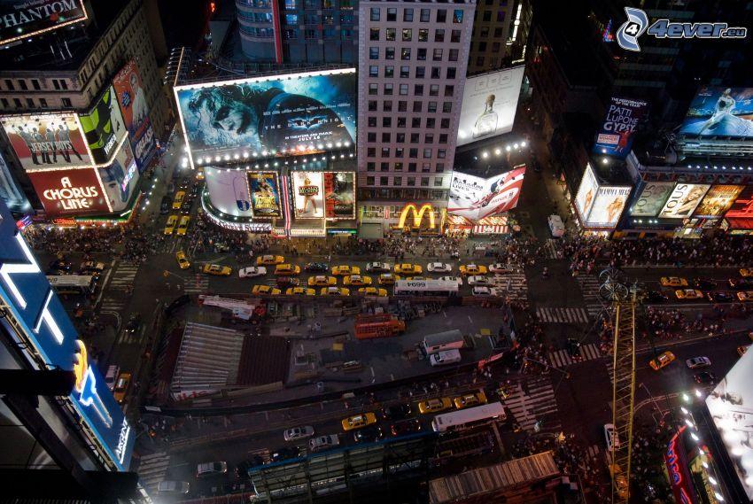 Times Square, Manhattan, New York, nattstad