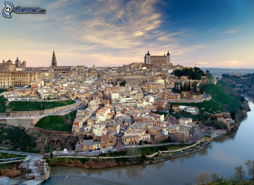 Toledo, flod, slott