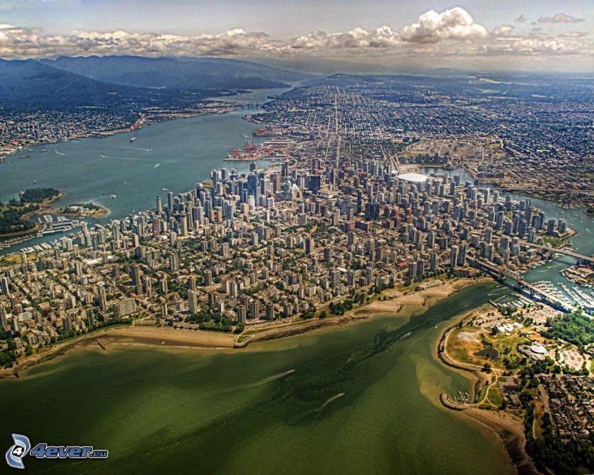 Vancouver, Kanada, stad, flygfoto